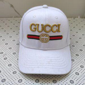 Gucci white baseball cap